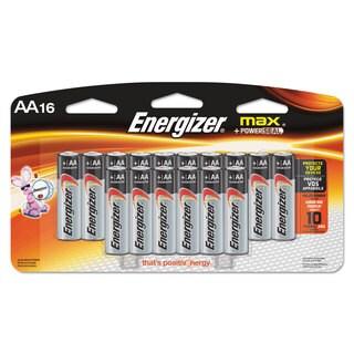 Energizer MAX Alkaline Batteries AA 16 Batteries/Pack