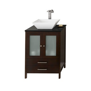 Ronbow Juno 24-inch Bathroom Vanity Set in Dark Cherry