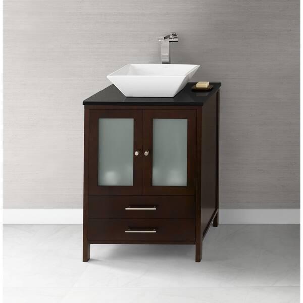 Ronbow Juno 24 Inch Bathroom Vanity Set In Dark Cherry Overstock 13983737