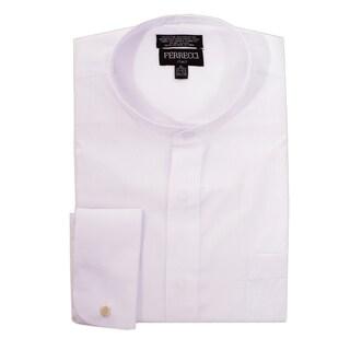 Ferrecci Men's Clergy Bishop Deacon Priest White Mandarin Banded Collar Dress Shirt https://ak1.ostkcdn.com/images/products/13983755/P20608807.jpg?_ostk_perf_=percv&impolicy=medium