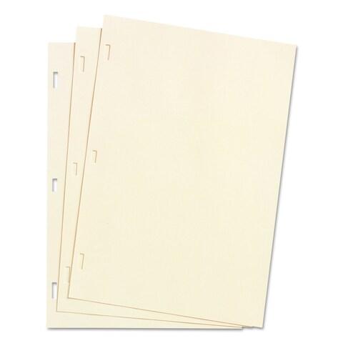 Wilson Jones Looseleaf Minute Book Ledger Sheets Ivory Linen 14 x 8-1/2 100 Sheet/Box
