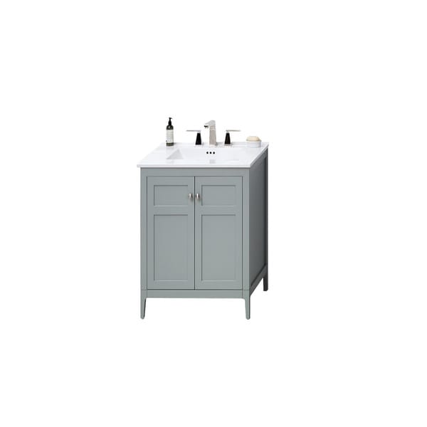 Shop Ronbow Briella Inch Bathroom Vanity Set In Ocean Gray With - 24 inch bathroom vanity gray