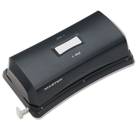 Master 15-Sheet Duo Electric/Battery Punch Two- and Three-Hole Fixed Position Sides
