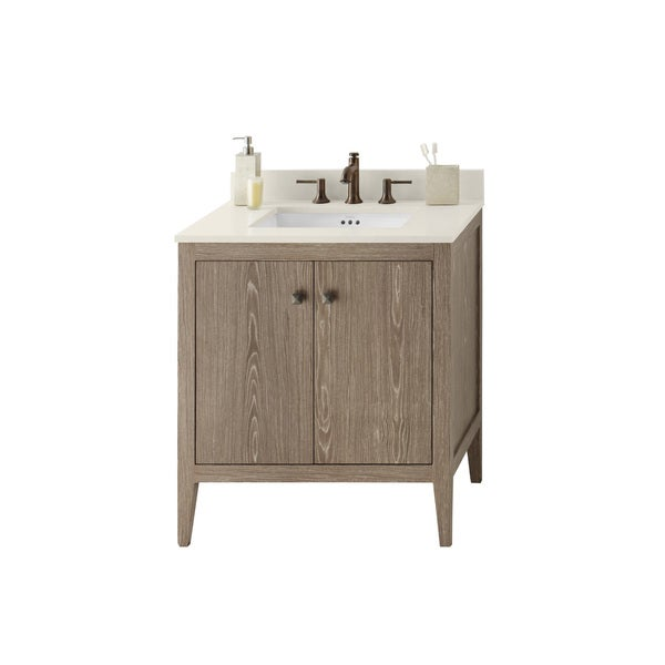 Shop Ronbow Sophie 30 Inch Bathroom Vanity Set In Aged Oak Free Shipping Today