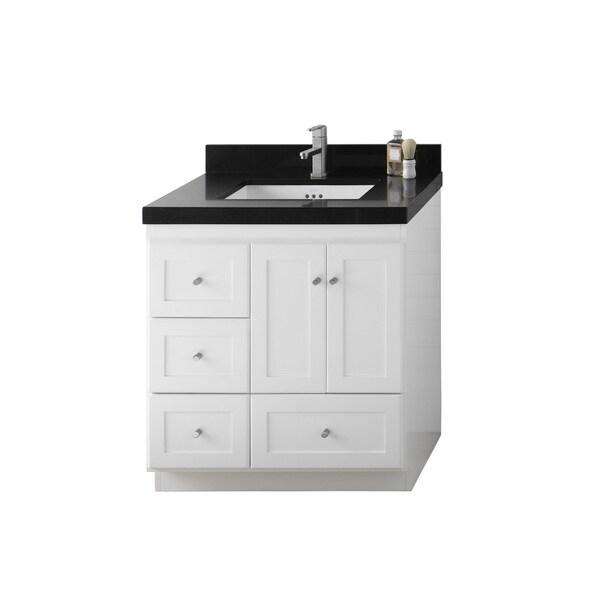 Shop Ronbow Shaker Inch Bathroom Vanity Set In White Free - 41 inch bathroom vanity
