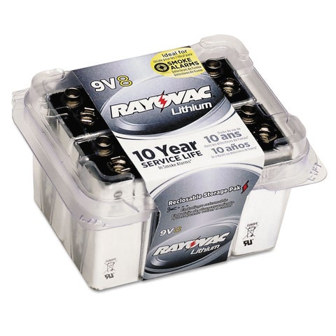 Rayovac Lithium Batteries 9V 8/Pack