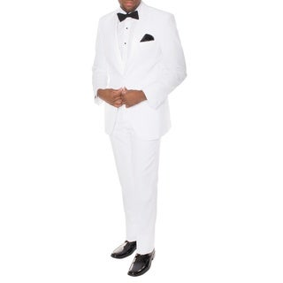 Ferrecci Men's Paul Lorenzo White Slim-fit Tuxedo (2-piece Set)