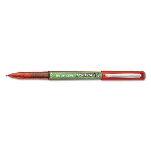 Pilot Precise V5 BeGreen Roller Ball Stick Pen Red Ink .5mm Dozen