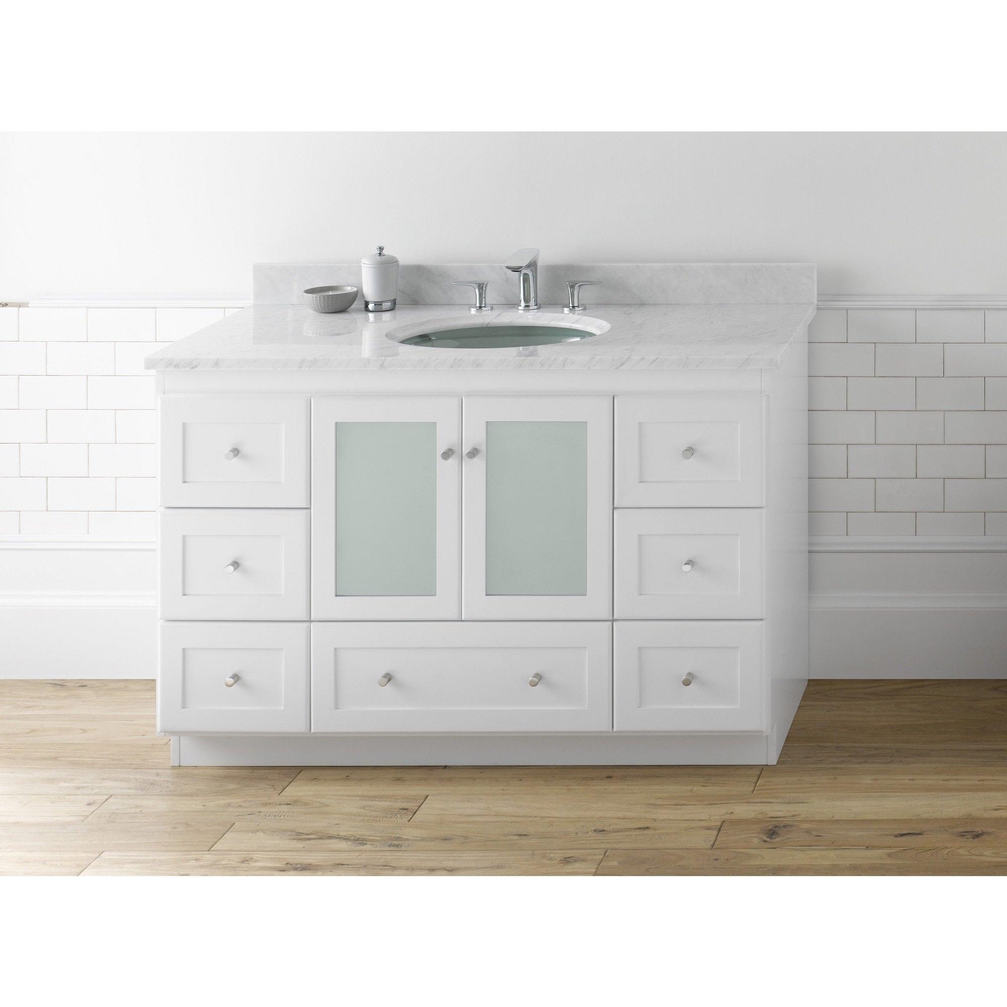 - Shop Ronbow Shaker 48-inch Bathroom Vanity Set In White, Marble