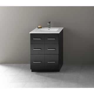 Ronbow Lassen 24-inch Eco Friendly Bathroom Vanity Set in Black