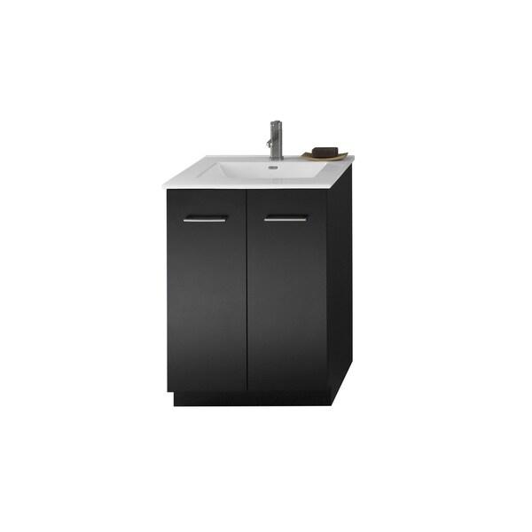 Shop Ronbow Arden 24 Inch Eco Friendly Bathroom Vanity Set In Black With Ceramic Bathroom Sink