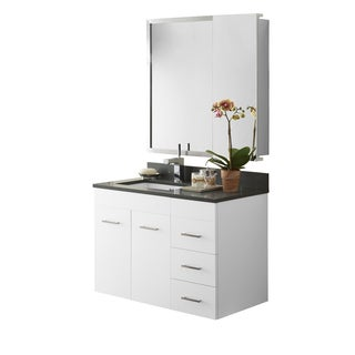 Ronbow Bella 35-inch Wall Mount Bathroom Vanity Set in White