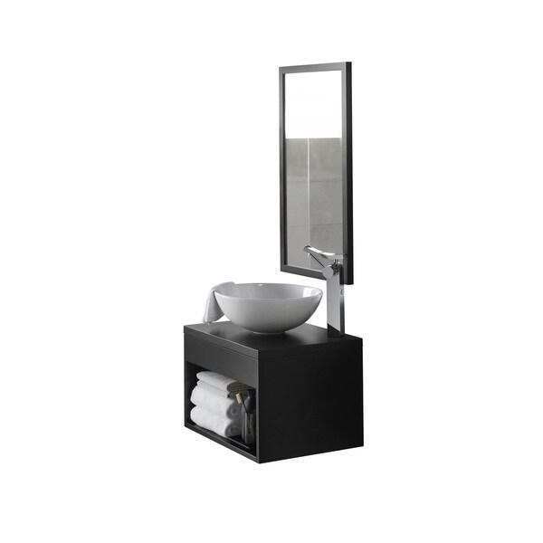 Shop Ronbow Catalina Black 22 Inch Wall Mount Bathroom