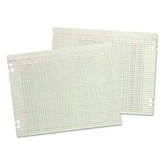 Wilson Jones Accounting Sheets 30 Columns 11 x 17 100 Loose Sheets/Pack Green