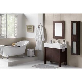 Ronbow Devon 36-inch Bathroom Vanity Set in Vintage Walnut