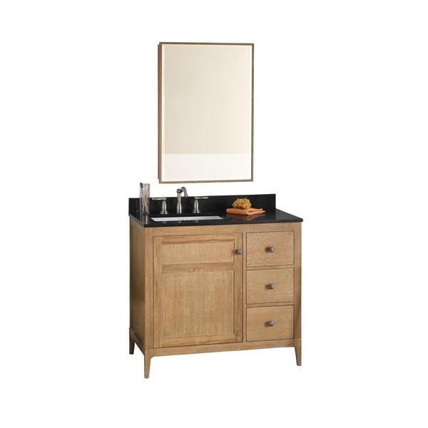 Shop Ronbow Briella 36 Inch Bathroom Vanity Set In Vintage Honey With Medicine Cabinet Quartz