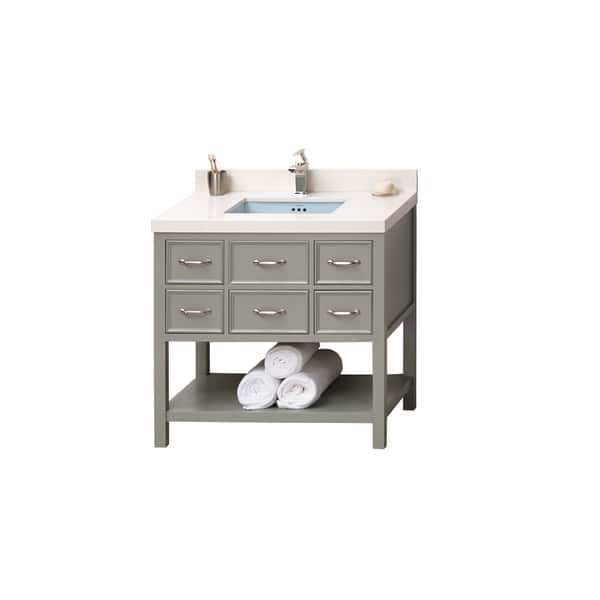 37 Inch Bathroom Vanity | Shop Ronbow Newcastle 37 Inch Bathroom Vanity Set In Ocean