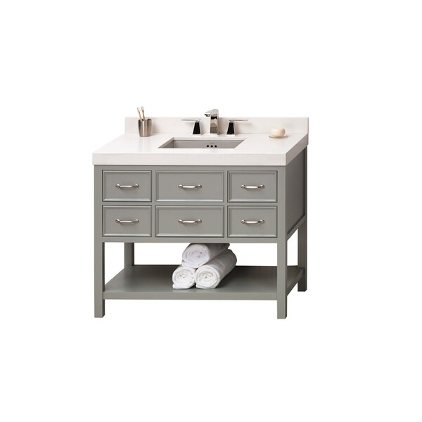 Shop Ronbow Newcastle 42 Inch Bathroom Vanity Set In Ocean Gray