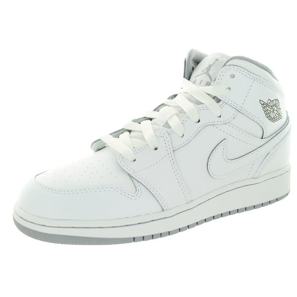 706212362f5802 Shop Nike Jordan Kids Air Jordan 1 Mid Bg Basketball Shoes - Free ...