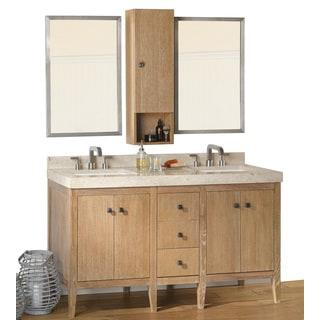 Ronbow Sophie 60-inch Bathroom Double Vanity Set in Vintage Honey