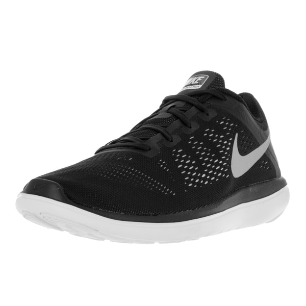 35c2c515d25e Shop Nike Kids Boys  Flex 2016 RN Black Running Shoes - Free ...