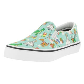 Vans Kids Toy Story Green Canvas Classic Slip-on Skate Shoes