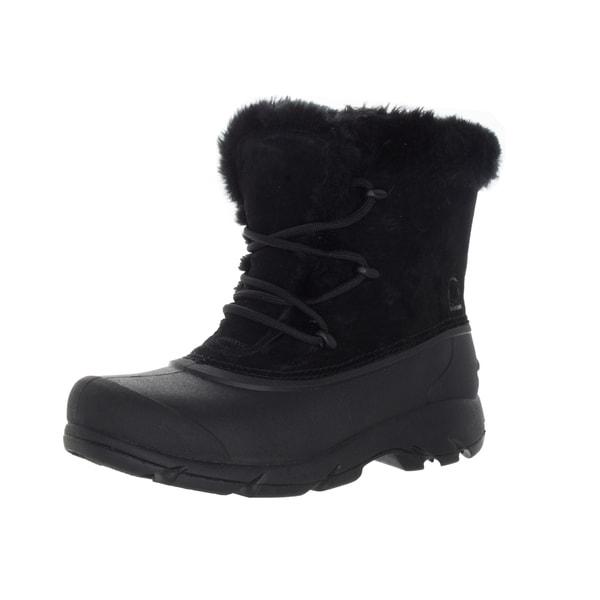 d7e2822d656bc Shop Sorel Women's Snow Angel Black Nubuck Lace Boot - Free Shipping ...