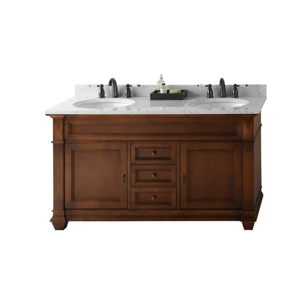 Shop ronbow torino 60 inch bathroom double vanity set in - 50 inch double sink bathroom vanity ...