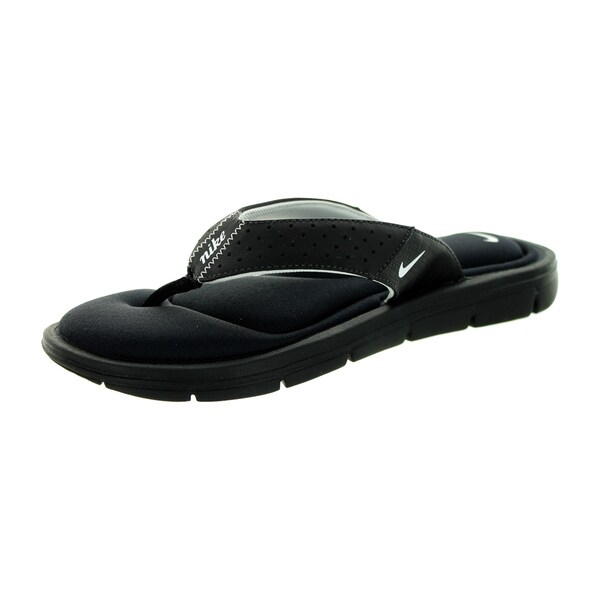 46bc639d10d9fb Shop Nike Women s Black Leather Comfort Thong Sandal - Free Shipping ...