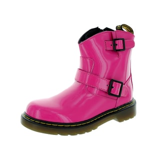 Dr. Martens Kids' Blip Pink Leather Boots