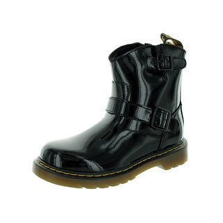 Dr. Martens Kid's Black Patent Leather Blip Boot