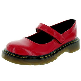 Dr. Martens Kids Maccy Red Patent Leather Casual Shoes