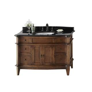 Ronbow Solerno 48 Inch Bathroom Vanity Set In Cafe Walnut, Granite Top And  Backsplash