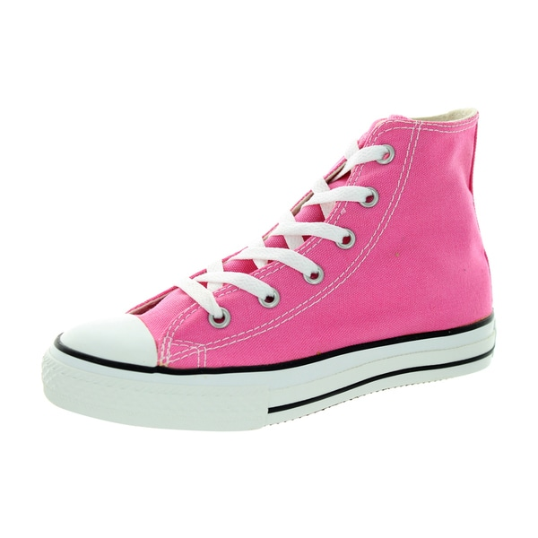 5878115a2658 Converse Kids  x27  Chuck Taylor All Star Pink Canvas Hi Basketball Shoes