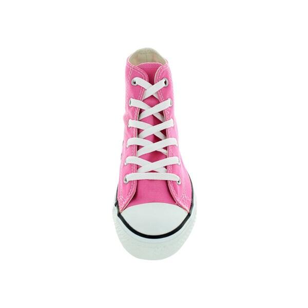 Shop Converse Kids' Chuck Taylor All Star Pink Canvas Hi