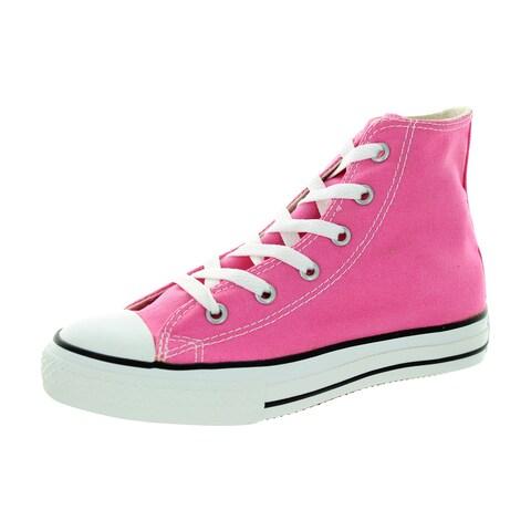 Converse Kids' Chuck Taylor All Star Pink Canvas Hi Basketball Shoes