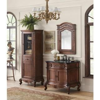 Ronbow Bordeaux 36 Inch Bathroom Vanity Set In Colonial Cherry With Medicine  Cabinet, Curio