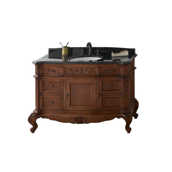 Shop ronbow bordeaux 48 inch bathroom vanity set in colonial cherry granite countertop and Granite backsplash for bathroom vanity