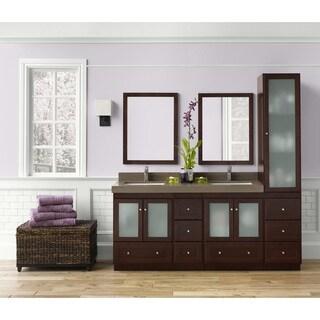 Ronbow Shaker 60-inch Bathroom Double Vanity Set with Mirror in Dark Cherry
