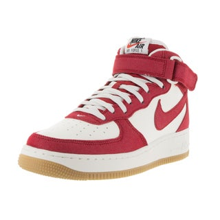 Nike Men's Air Force 1 Mid '07 Red Basketball Shoes