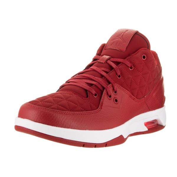 Shop Nike Men s Jordan Clutch Red Leather Basketball Shoe - Free ... 7a0c90b52