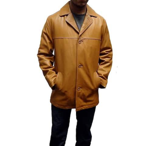 Knoles Carter Men's Brasco Tan Leather Jacket