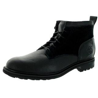 Timberland Men's Earthkeepers Heritage Flatirons Chukka Black Leather Boots