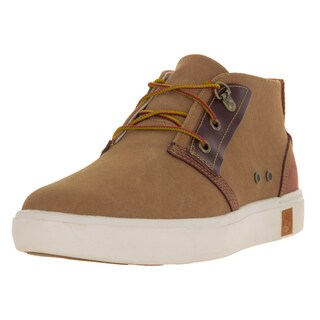 Timberland Men's Amherst Brown Canvas Wide Boot