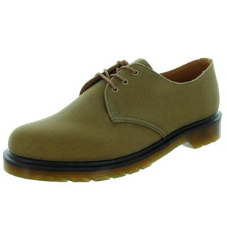 Dr. Martens Unisex Brown Canvas Lester Casual Shoes