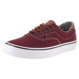 Vans Unisex Era 59 (C L) Red Canvas Skate Shoes