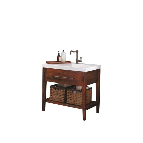 Rustic Bathroom Vanity Set: Shop Ronbow Portland 36-inch Bathroom Vanity Set In Rustic