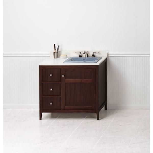 Ronbow Briella 36 Inch Bathroom Vanity Set In American Walnut
