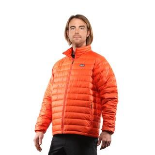 Patagonia Men's Electric Orange Down Sweater Size Large