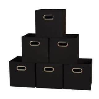 Fabric Storage Box Cubes (Pack of 6)